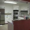 Kitchen with stainless steel appliances included